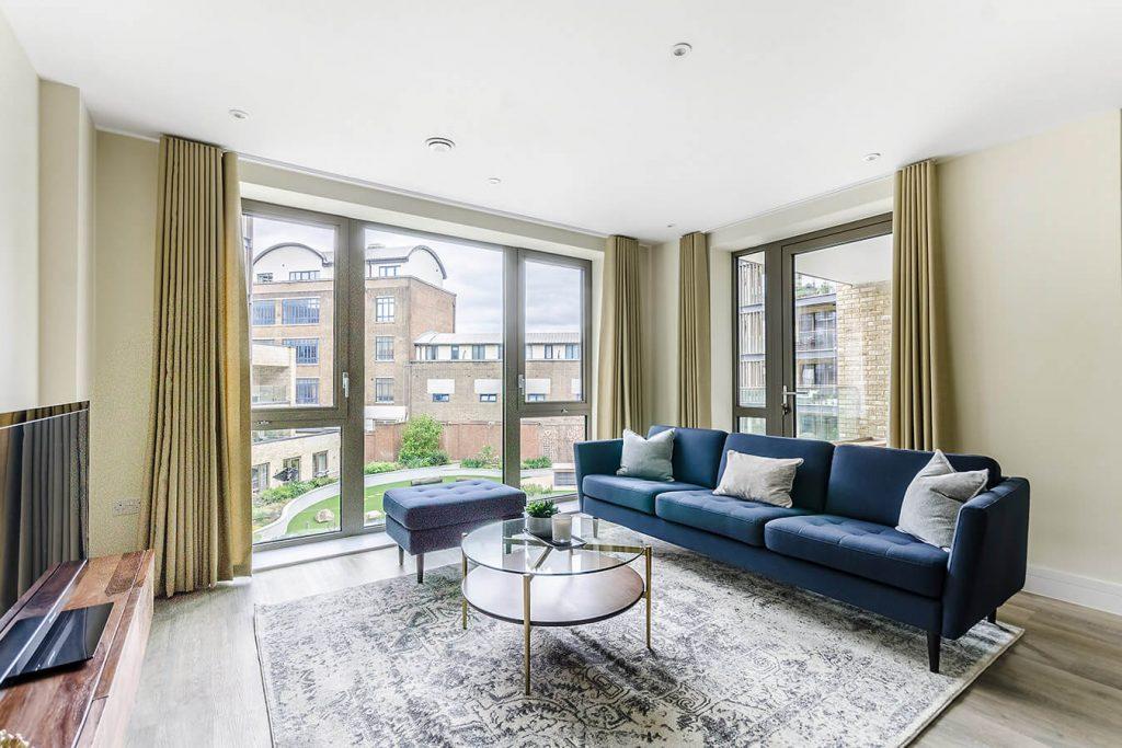 flat living room modern